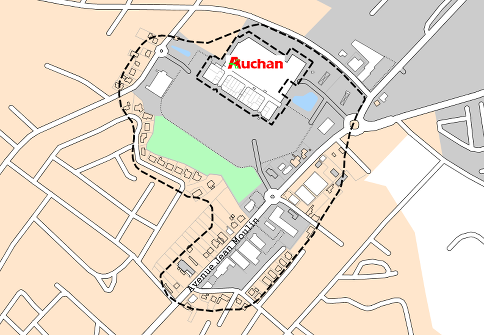 Key Plans Di 171 Montauban Avenue Jean Moulin Auchan